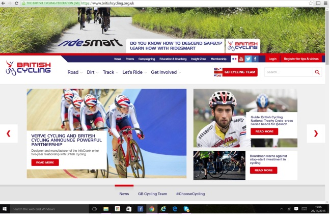 British Cycling Website